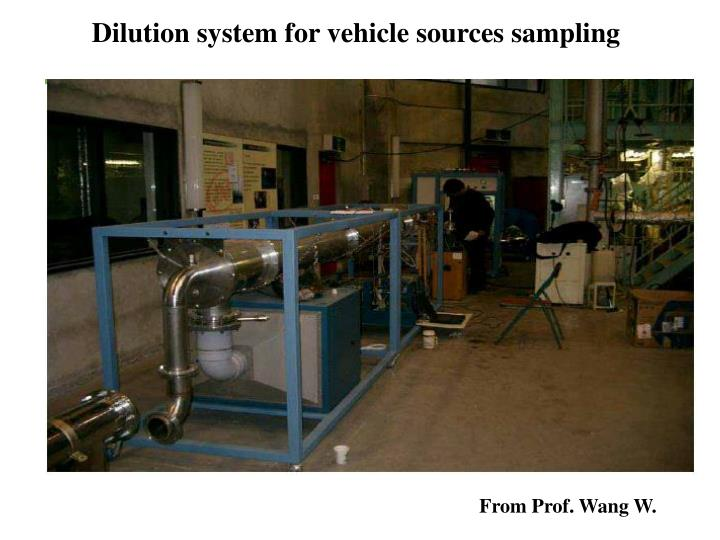 Dilution system for vehicle sources sampling