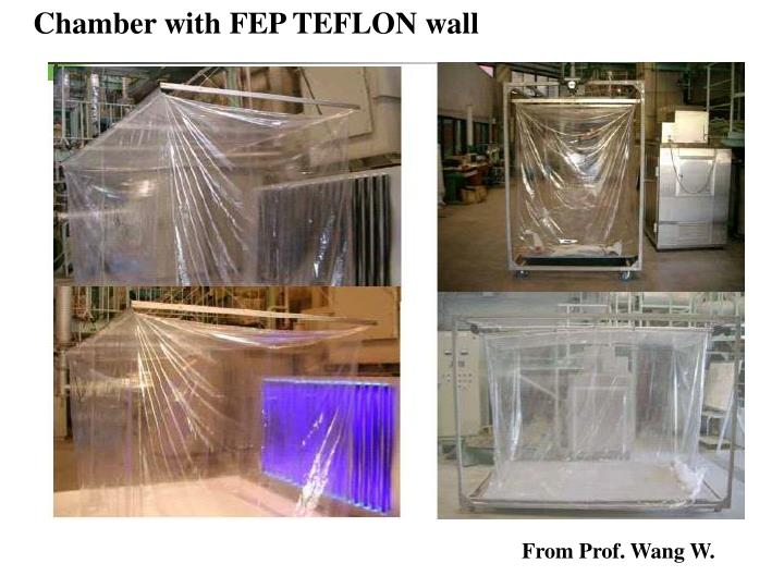 Chamber with FEP TEFLON wall