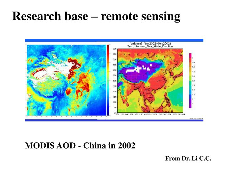 Research base – remote sensing