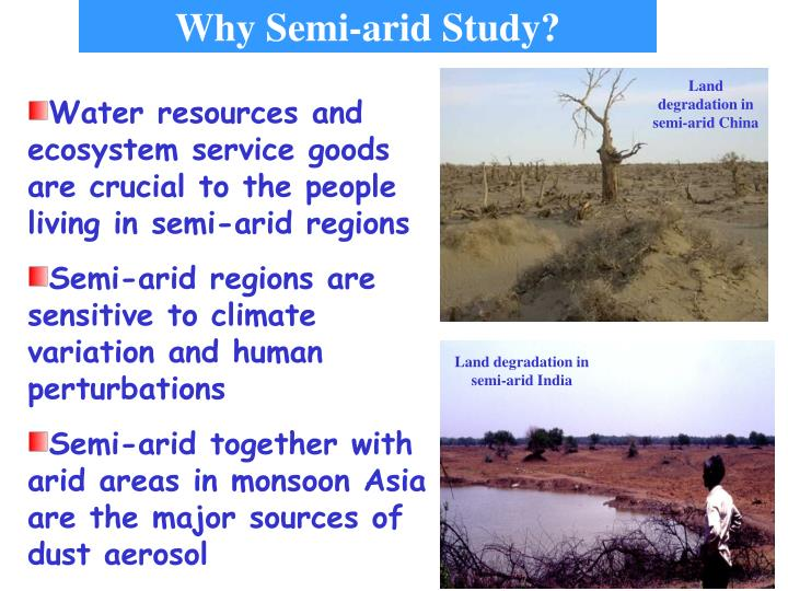 Land degradation in semi-arid China