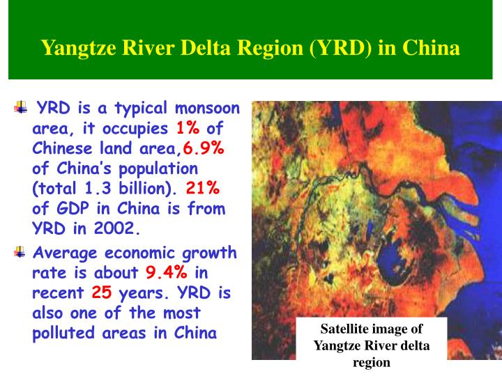 Satellite image of Yangtze River delta region