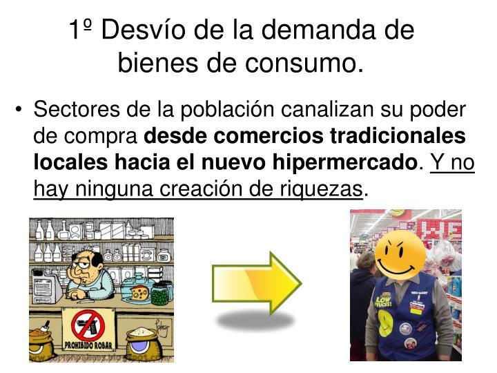 1º Desvío de la demanda de bienes de consumo.