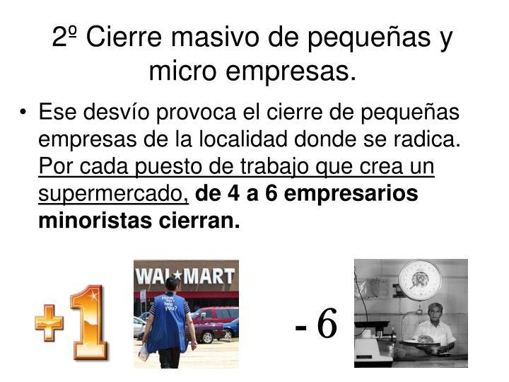 2º Cierre masivo de pequeñas y micro empresas.