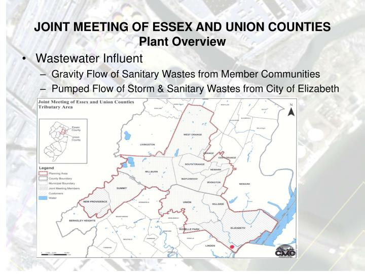 Joint meeting of essex and union counties plant overview1