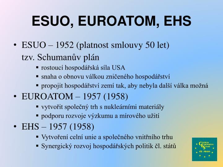 ESUO, EUROATOM, EHS