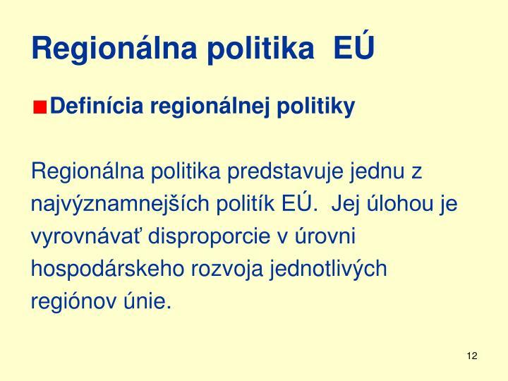 Regionálna politika  EÚ