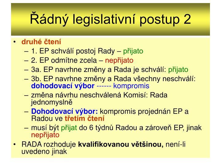 Řádný legislativní postup 2