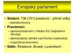 evropsk parlament