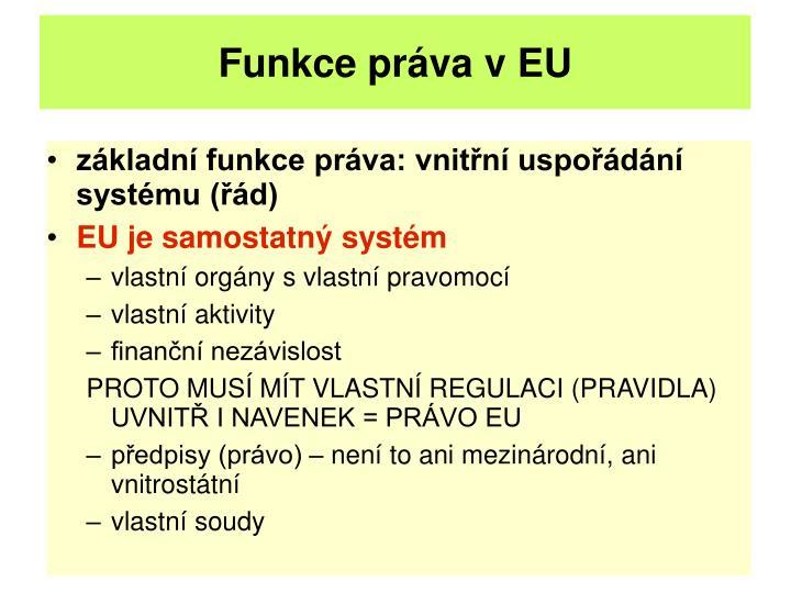 Funkce práva v EU