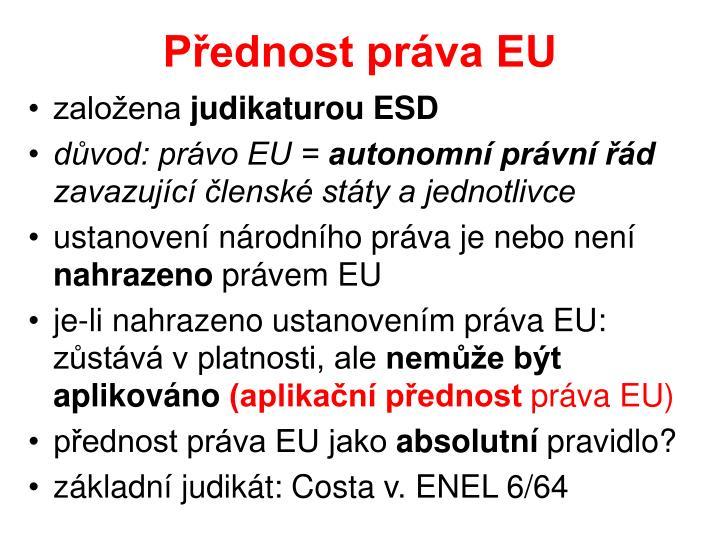 Přednost práva EU