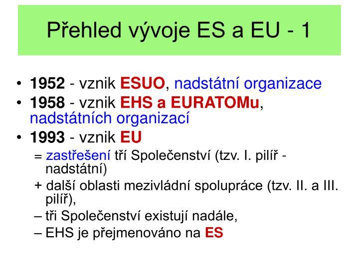 Přehled vývoje ES a EU - 1