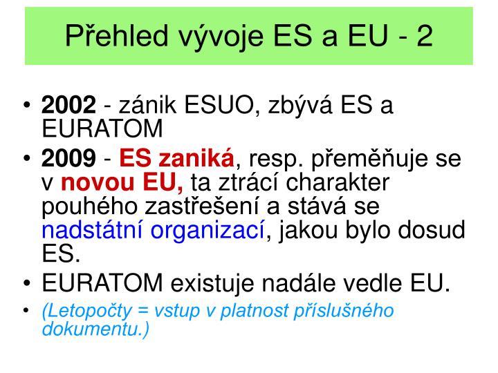 Přehled vývoje ES a EU - 2