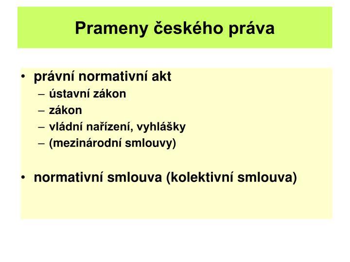 Prameny českého práva