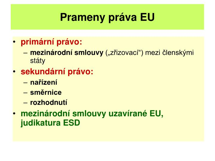 Prameny práva EU