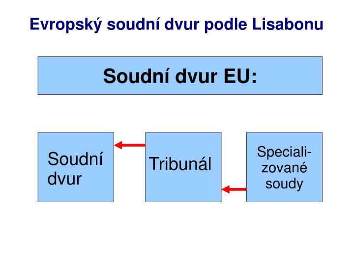 Evropský soudní dvur podle Lisabonu