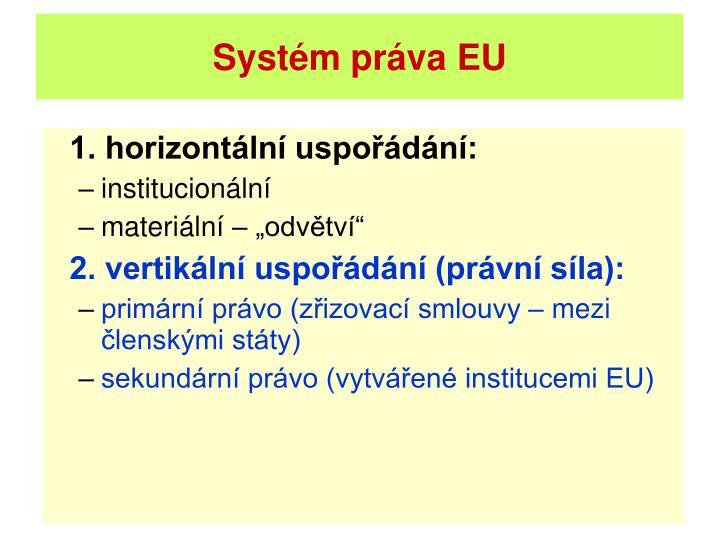 Systém práva EU