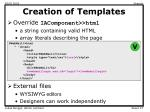 creation of templates