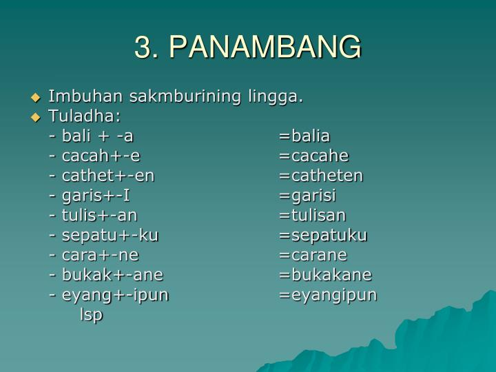 3. PANAMBANG