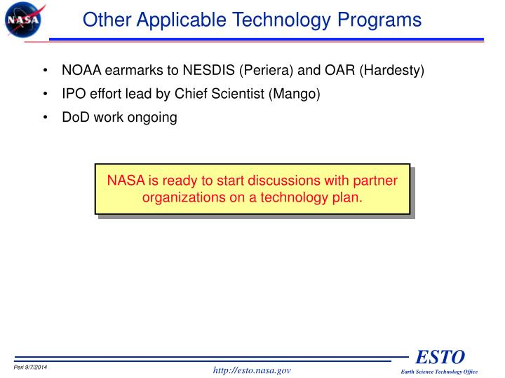 Other Applicable Technology Programs