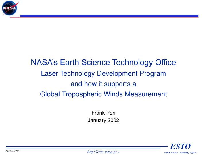 NASA's Earth Science Technology Office