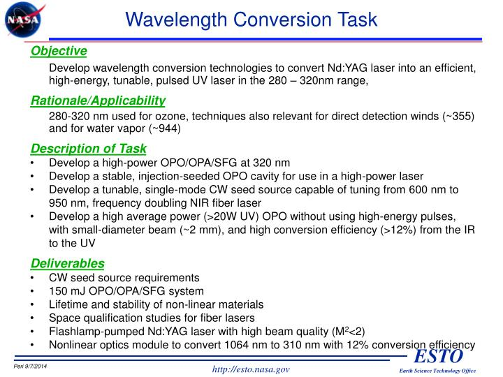 Wavelength Conversion Task