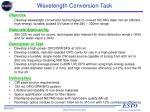 wavelength conversion task
