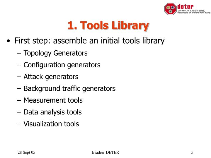 1. Tools Library