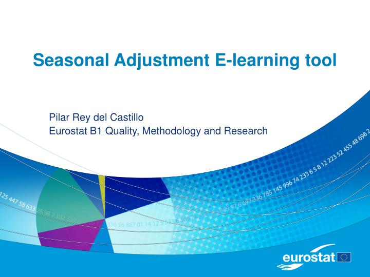 Seasonal adjustment e learning tool