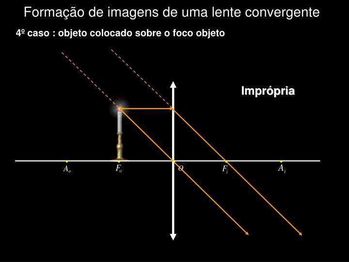 Formação de imagens de uma lente convergente