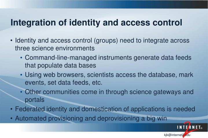 Integration of identity and access control
