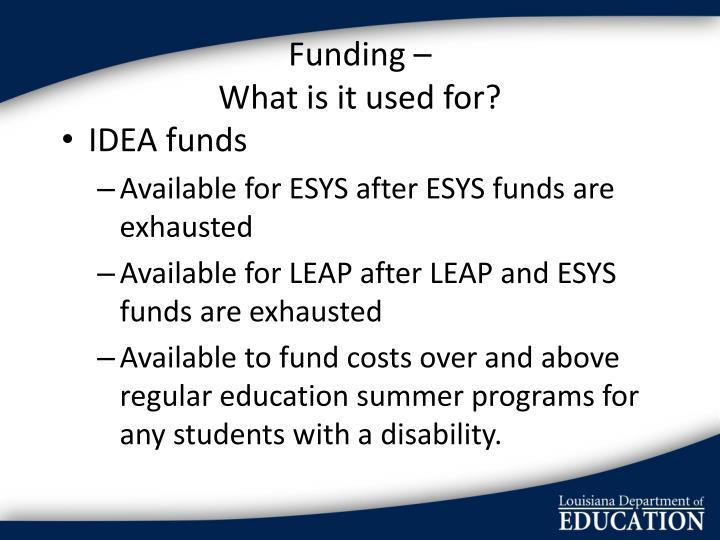 Funding –