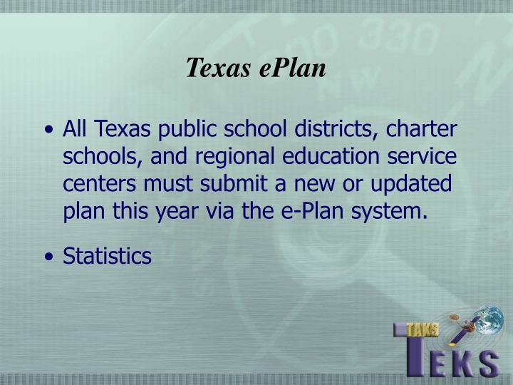 Texas ePlan
