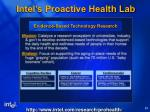 intel s proactive health lab