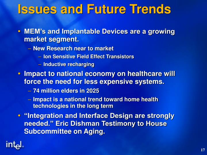 Issues and Future Trends