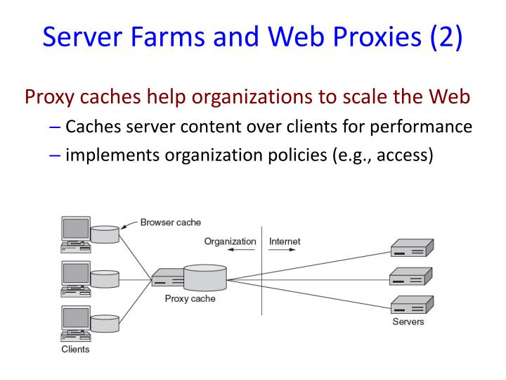 Server Farms and Web Proxies (2)