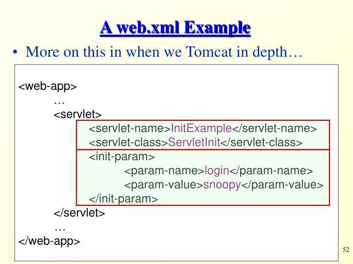 A web.xml Example