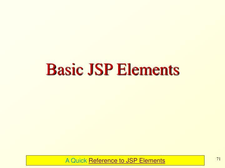 Basic JSP Elements