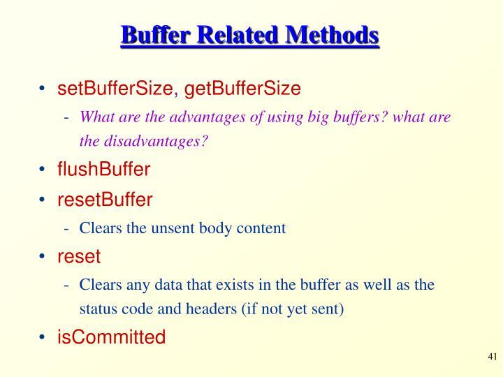 Buffer Related Methods