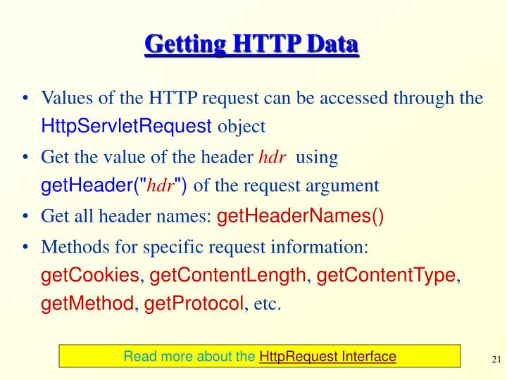 Getting HTTP Data