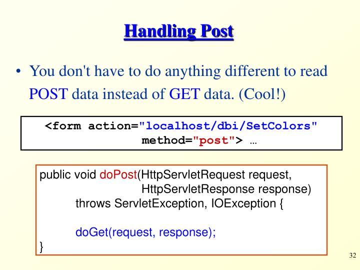 Handling Post