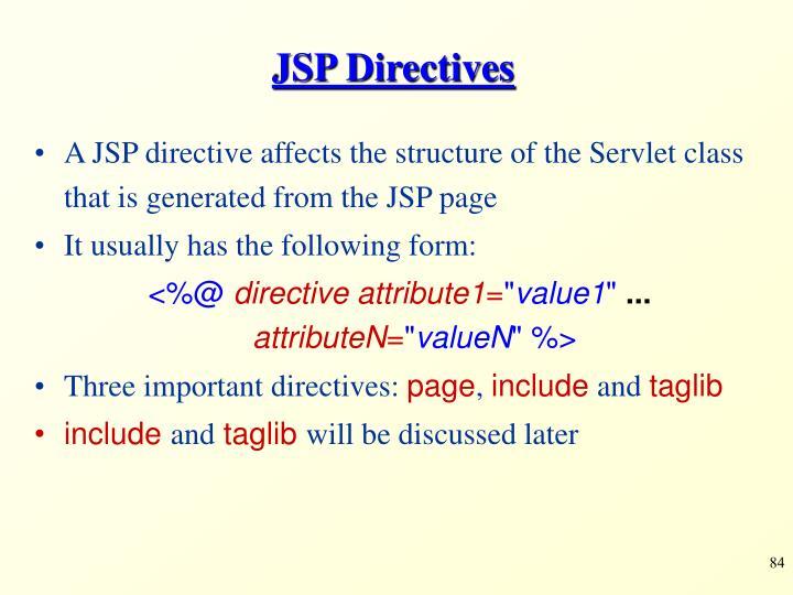 JSP Directives