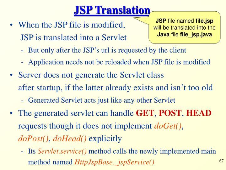 JSP Translation