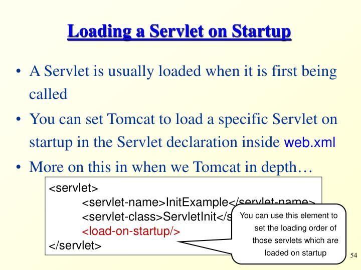 Loading a Servlet on Startup