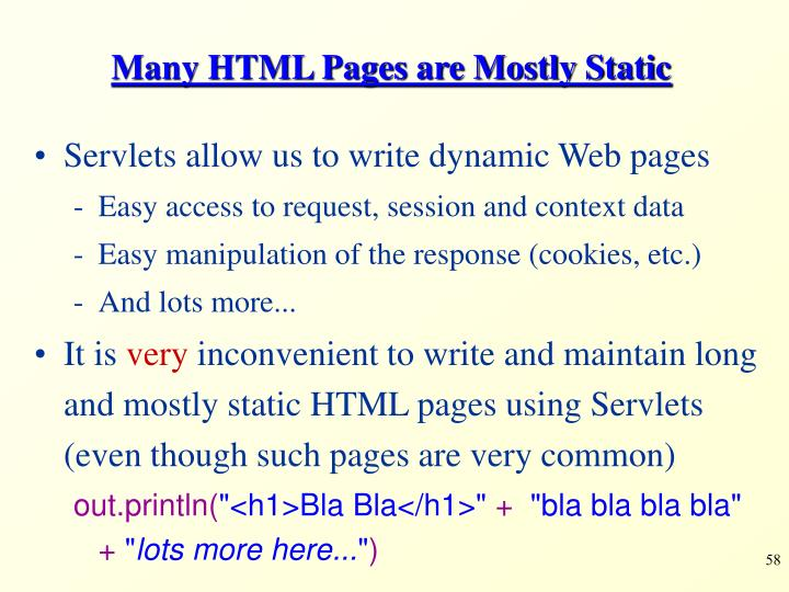 Many HTML Pages are Mostly Static