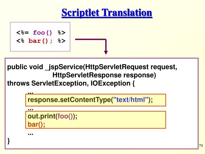 Scriptlet Translation