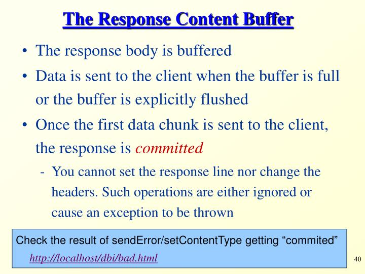 The Response Content Buffer