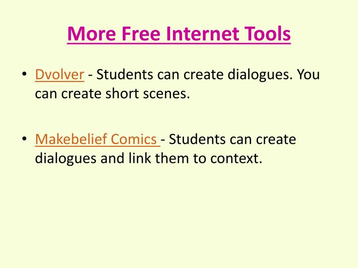 More Free Internet Tools