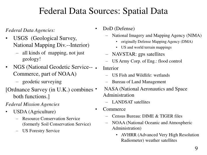 Federal Data Agencies: