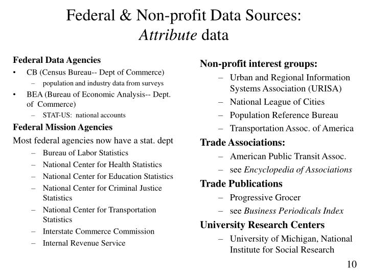 Federal Data Agencies