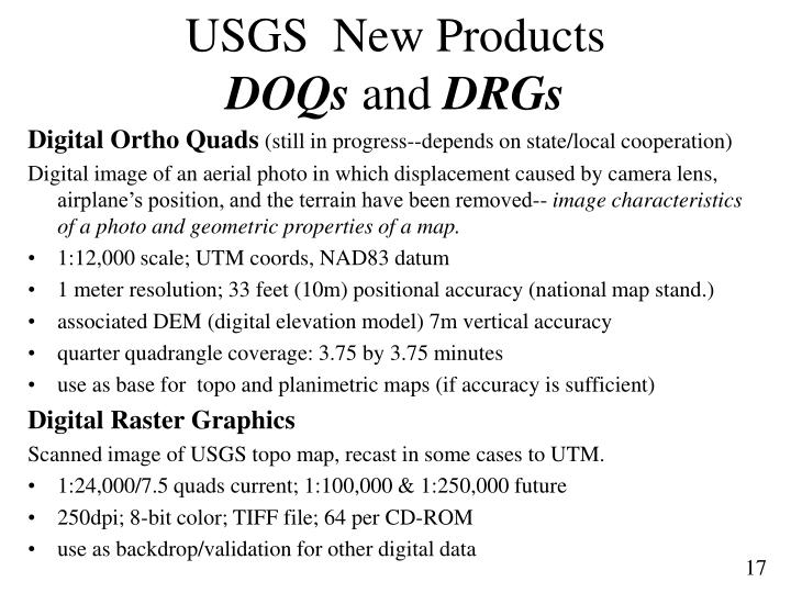 USGS  New Products